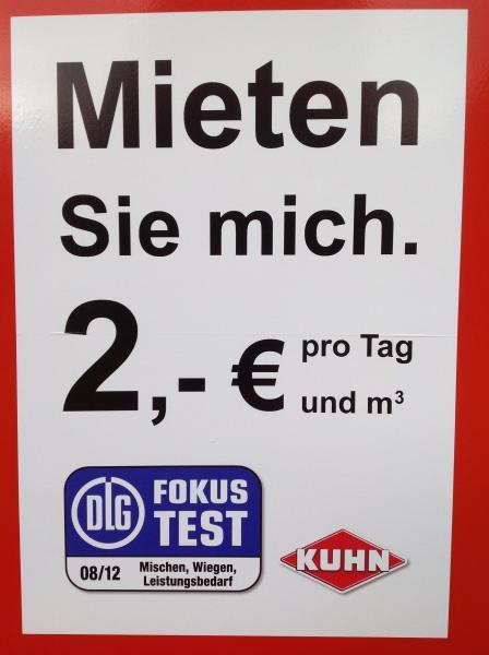 Kuhn Futtermischwagen 16m³ zu € 32 pro Tag